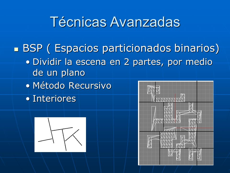 Técnicas Avanzadas BSP ( Espacios particionados binarios)