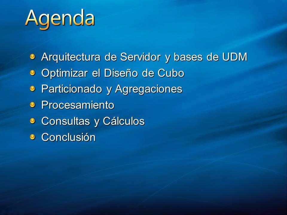 Arquitectura de Servidor y bases de UDM Optimizar el Diseño de Cubo