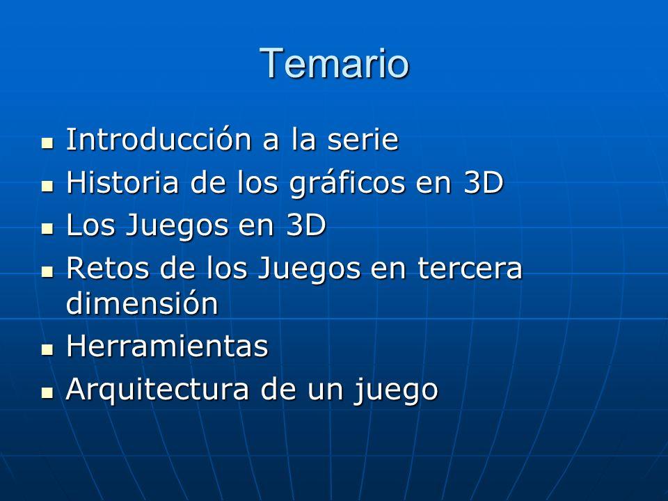 Temario Introducción a la serie Historia de los gráficos en 3D