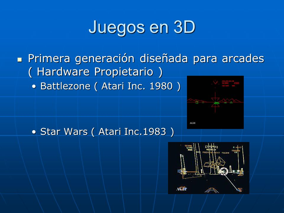 Juegos en 3D Primera generación diseñada para arcades ( Hardware Propietario ) Battlezone ( Atari Inc. 1980 )