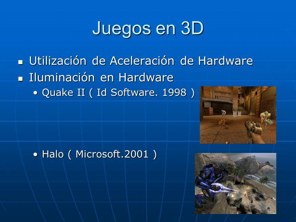 Juegos en 3D Utilización de Aceleración de Hardware