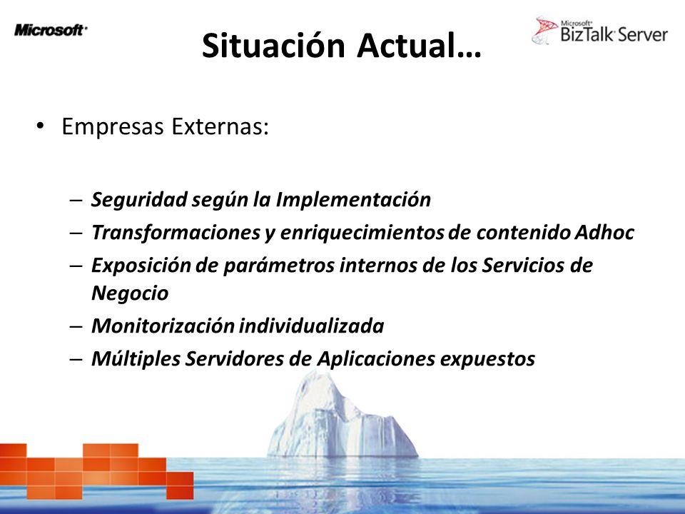 Situación Actual… Empresas Externas: Seguridad según la Implementación