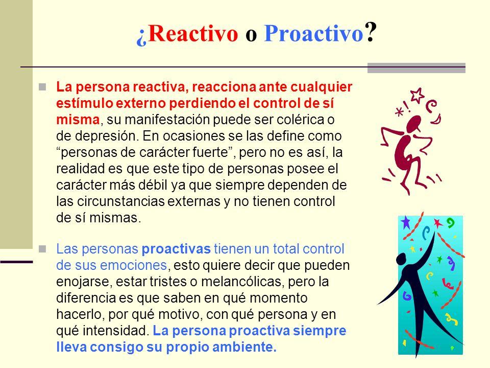 ¿Reactivo o Proactivo