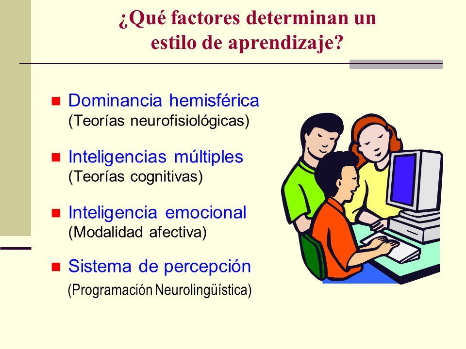 ¿Qué factores determinan un estilo de aprendizaje