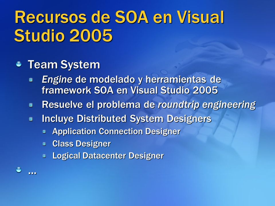 Recursos de SOA en Visual Studio 2005