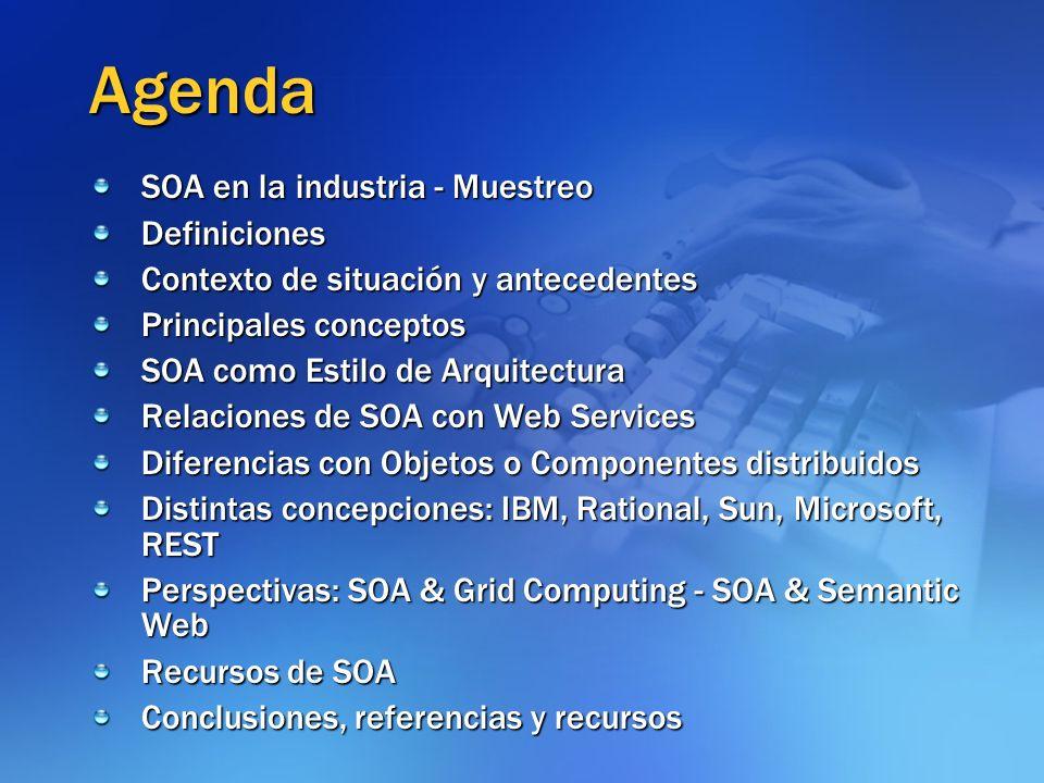 Agenda SOA en la industria - Muestreo Definiciones