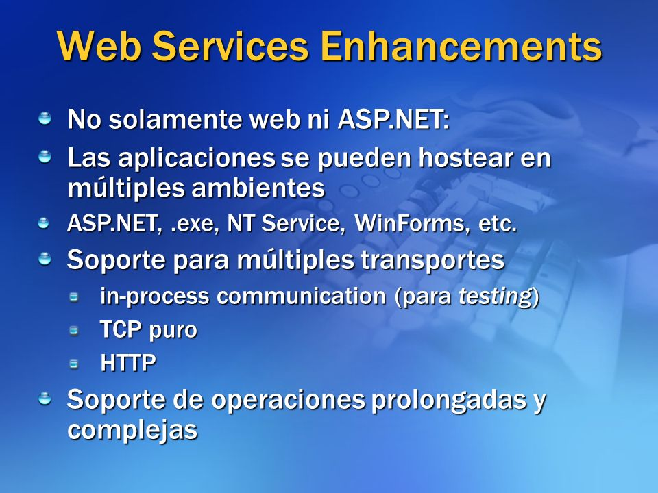 Web Services Enhancements