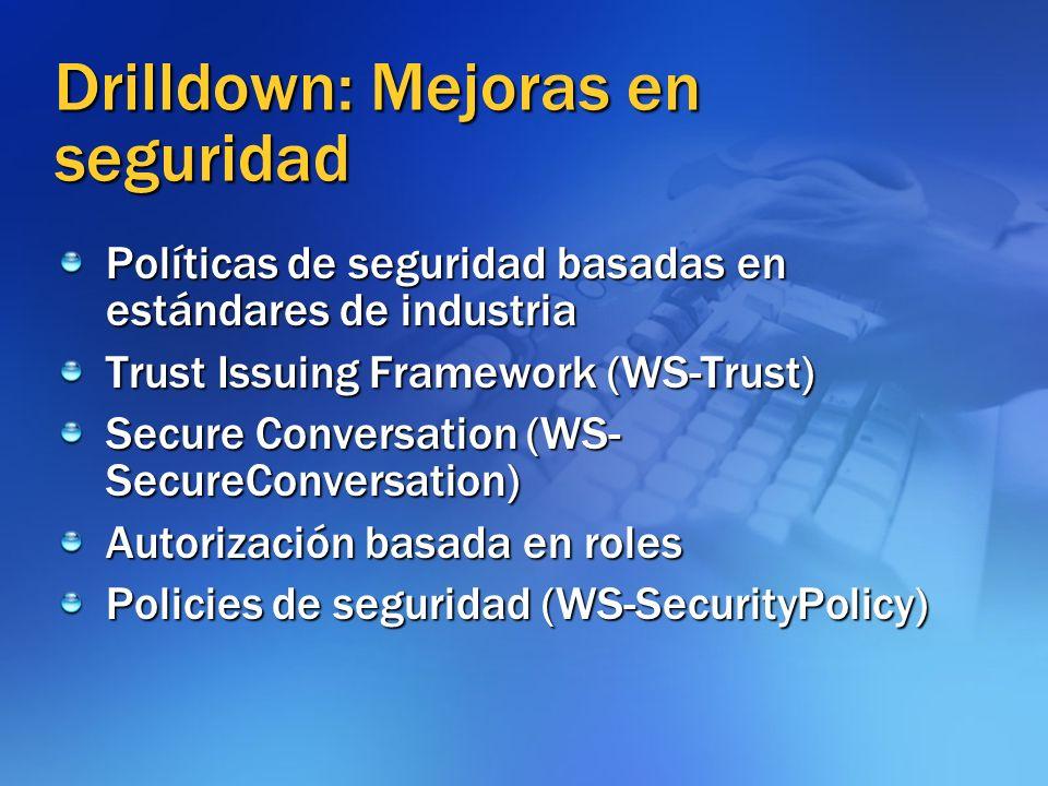 Drilldown: Mejoras en seguridad