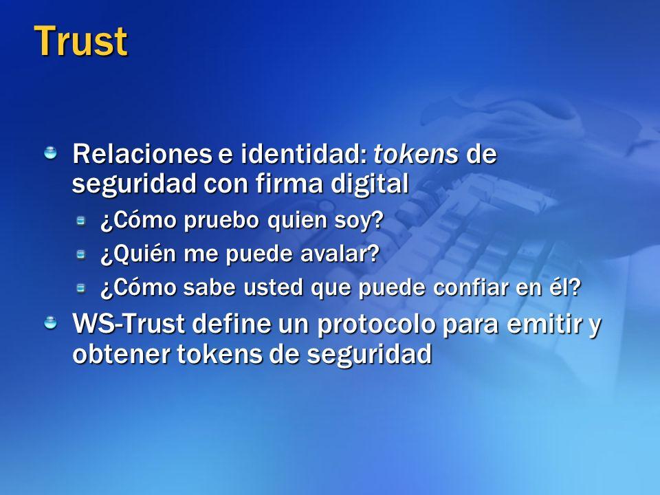 Trust Relaciones e identidad: tokens de seguridad con firma digital