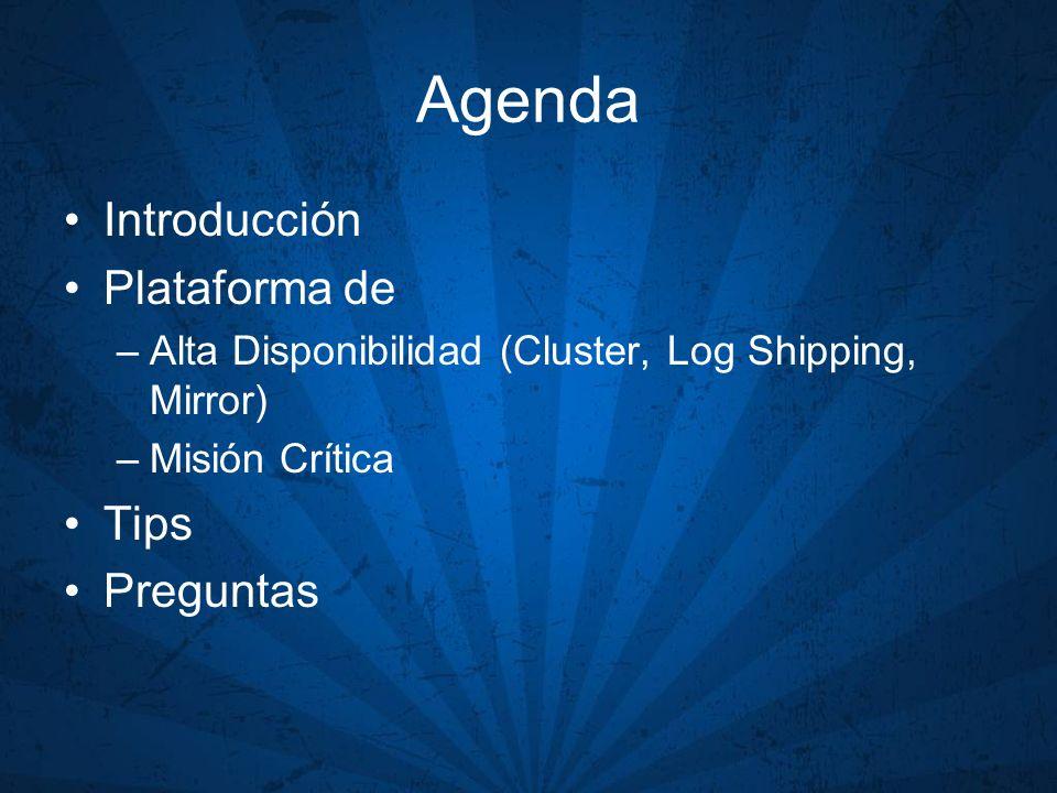 Agenda Introducción Plataforma de Tips Preguntas