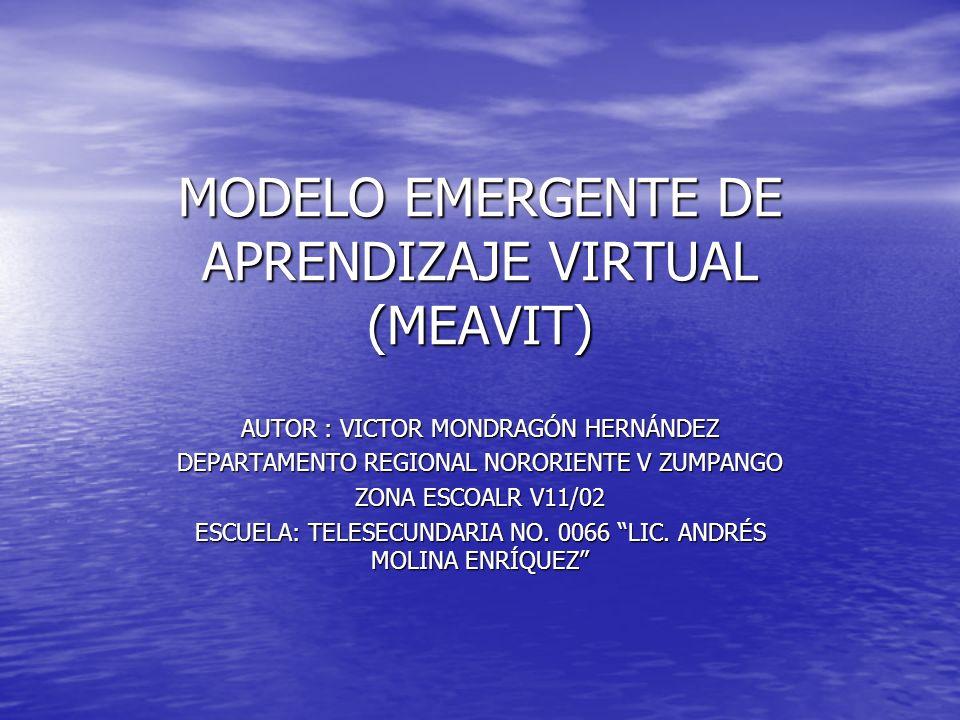 MODELO EMERGENTE DE APRENDIZAJE VIRTUAL (MEAVIT)