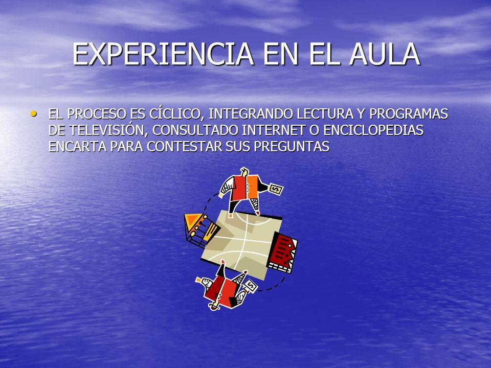 EXPERIENCIA EN EL AULA