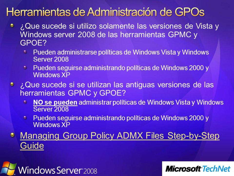 Herramientas de Administración de GPOs