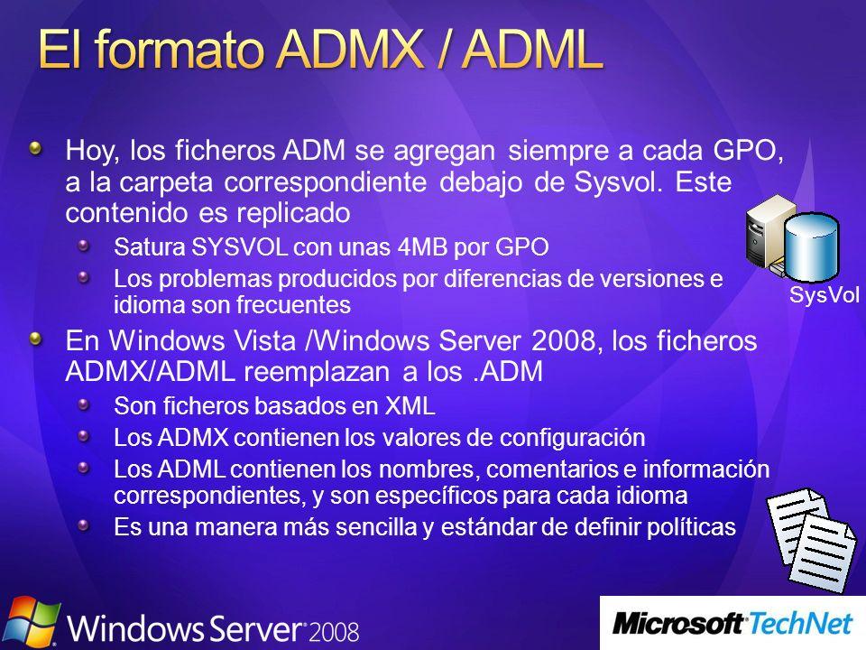 3/24/2017 4:01 PM El formato ADMX / ADML.