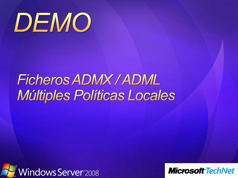 Ficheros ADMX / ADML Múltiples Políticas Locales