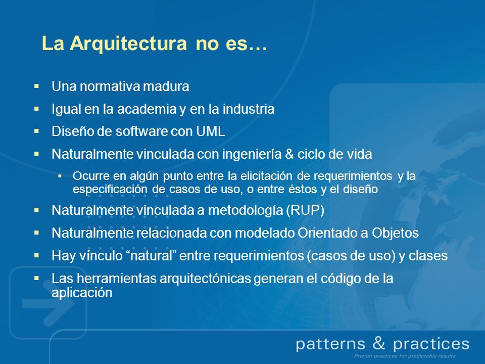 La Arquitectura no es… Una normativa madura