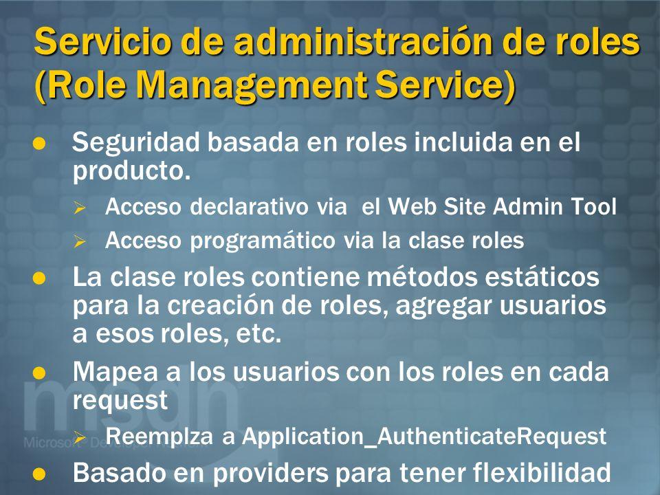 Servicio de administración de roles (Role Management Service)