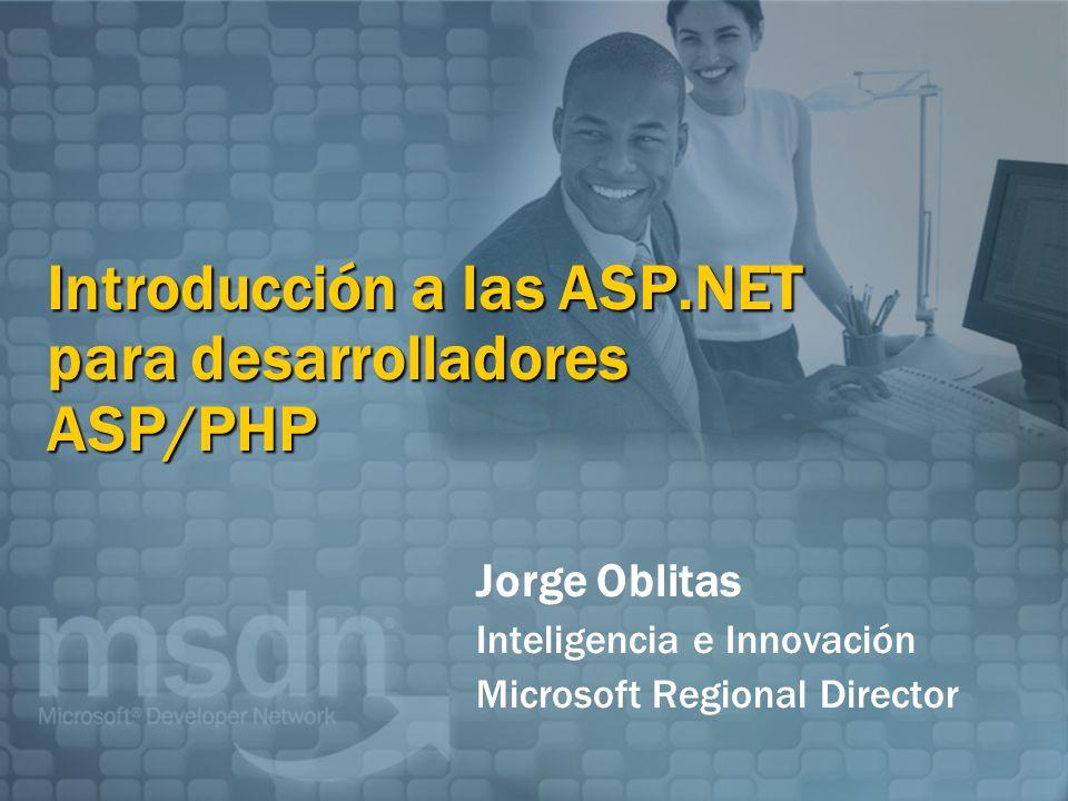 Introducción a las ASP.NET para desarrolladores ASP/PHP