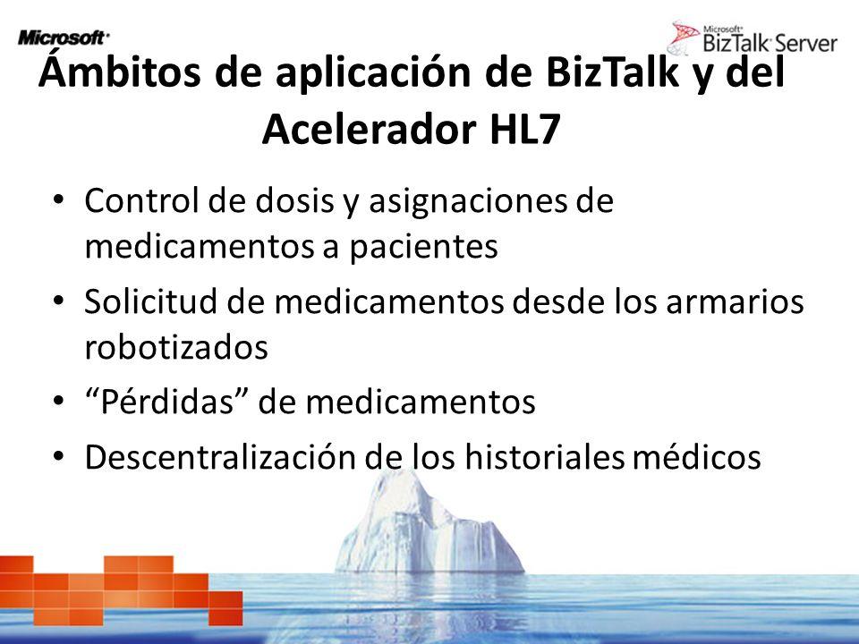 Ámbitos de aplicación de BizTalk y del Acelerador HL7