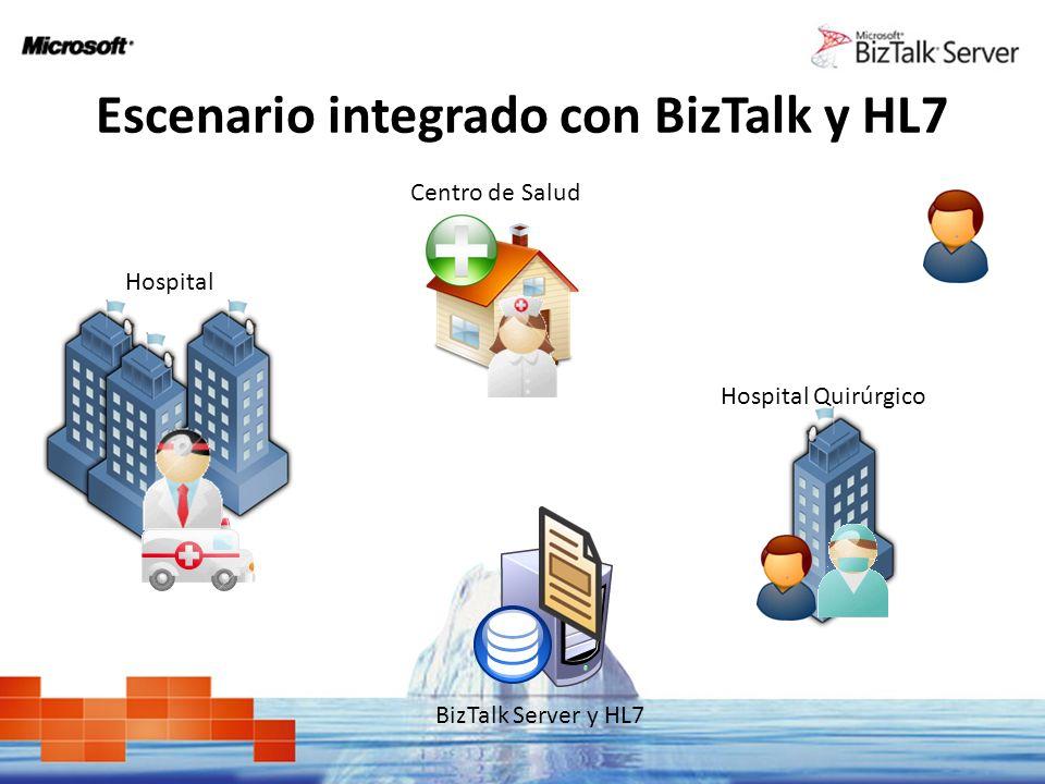 Escenario integrado con BizTalk y HL7
