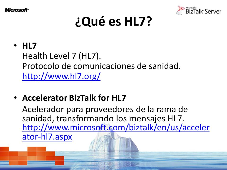 ¿Qué es HL7 HL7 Health Level 7 (HL7).