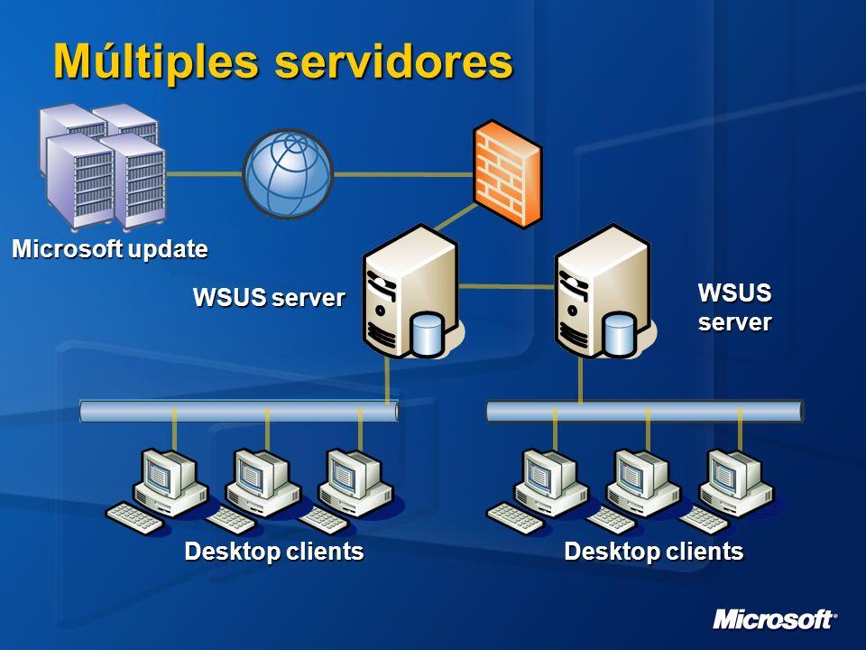Múltiples servidores Microsoft update WSUS server WSUS server