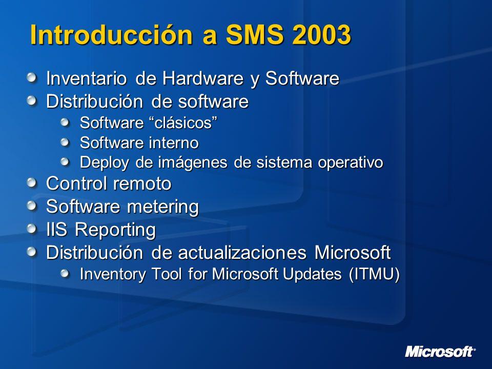 Introducción a SMS 2003 Inventario de Hardware y Software