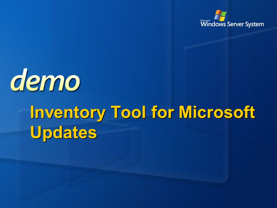Inventory Tool for Microsoft Updates