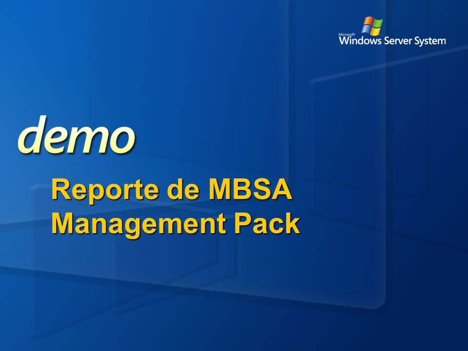 Reporte de MBSA Management Pack