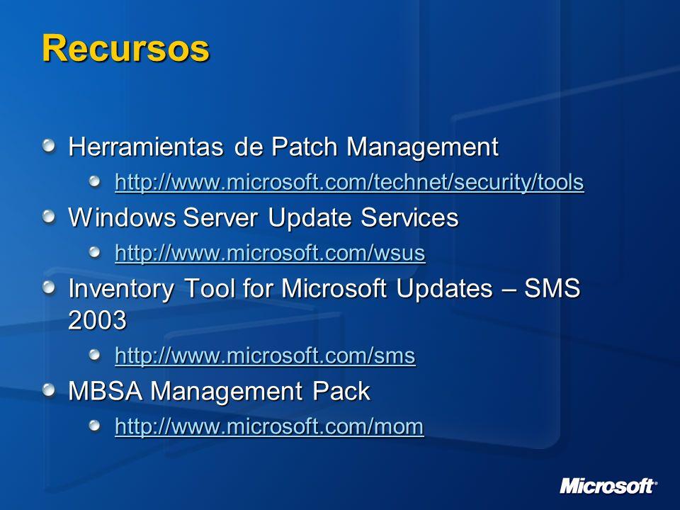 Recursos Herramientas de Patch Management