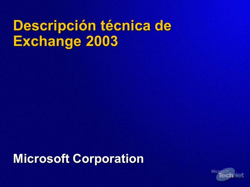 Descripción técnica de Exchange 2003