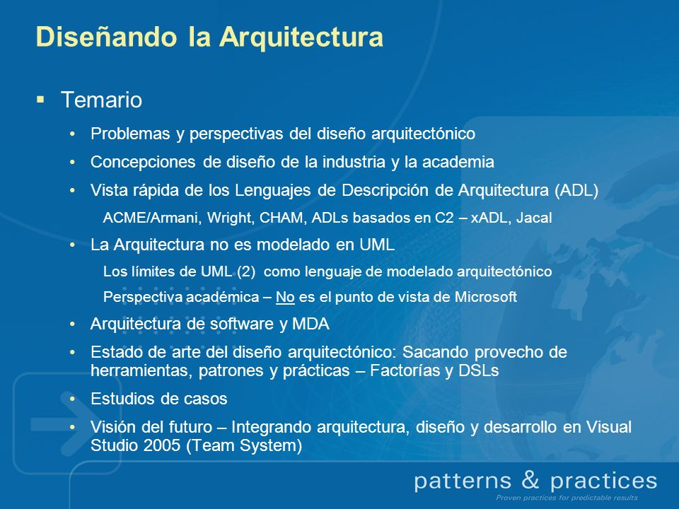 Diseñando la Arquitectura