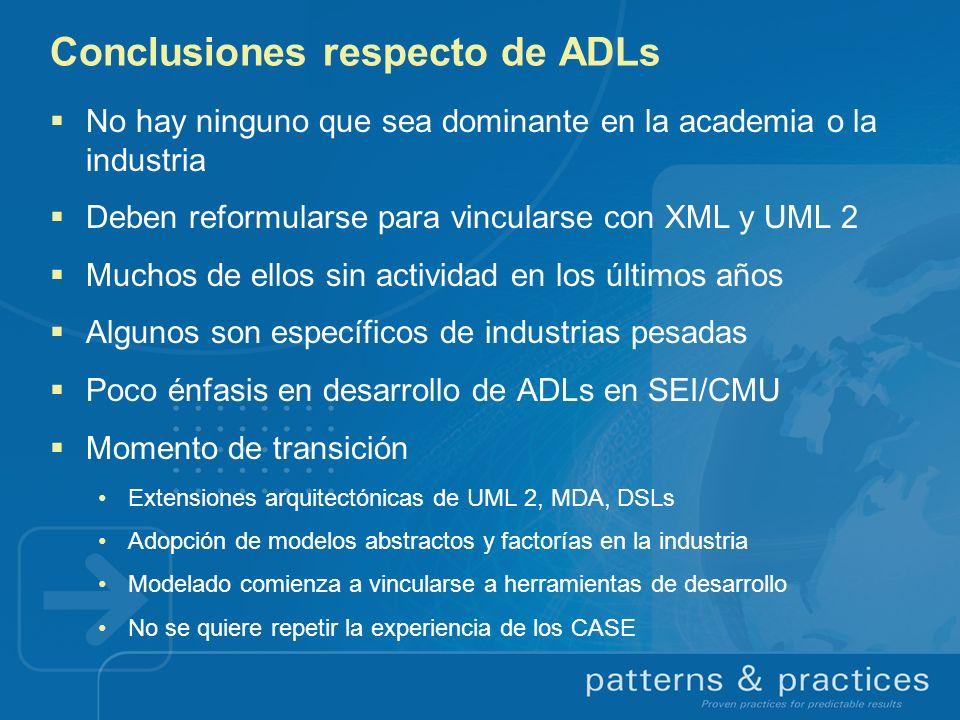 Conclusiones respecto de ADLs