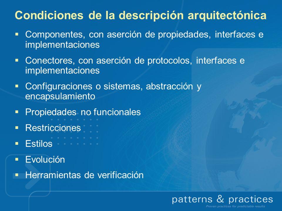 Condiciones de la descripción arquitectónica
