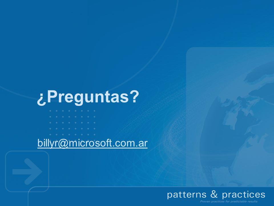 ¿Preguntas billyr@microsoft.com.ar