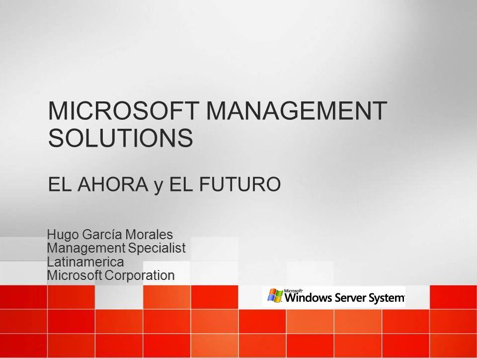 MICROSOFT MANAGEMENT SOLUTIONS EL AHORA y EL FUTURO