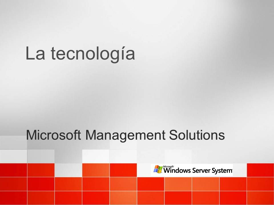Microsoft Management Solutions