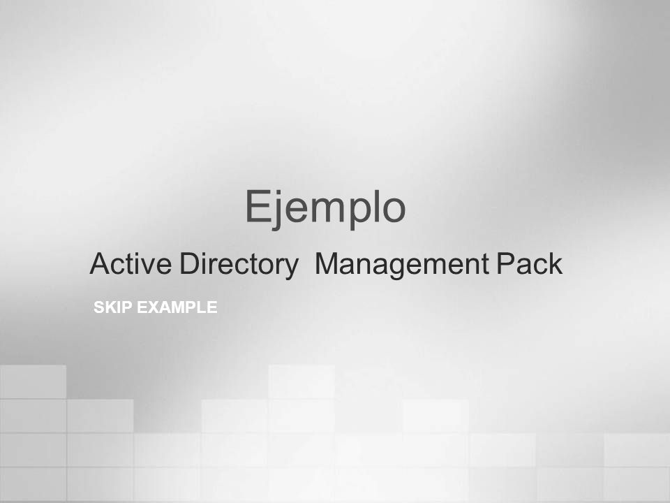 Active Directory Management Pack