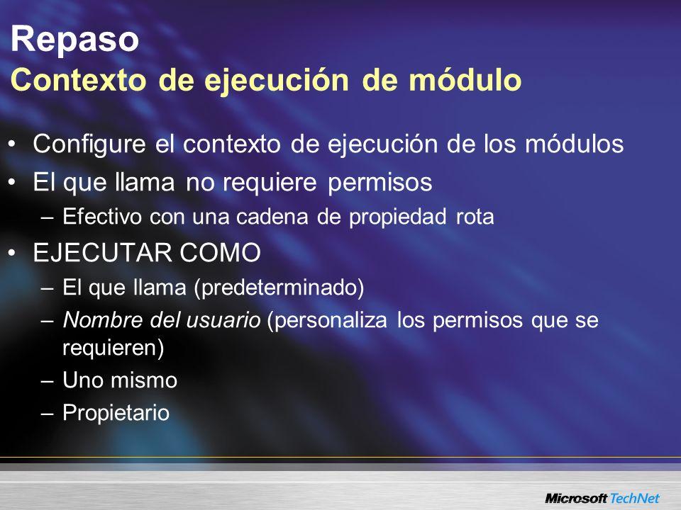 Repaso Contexto de ejecución de módulo