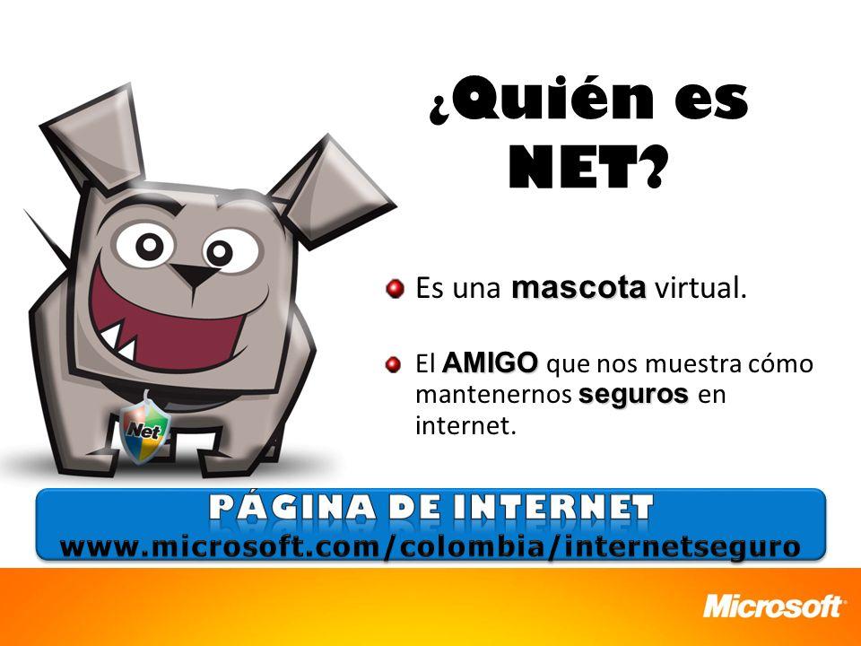 ¿Quién es NET Es una mascota virtual. Página de Internet