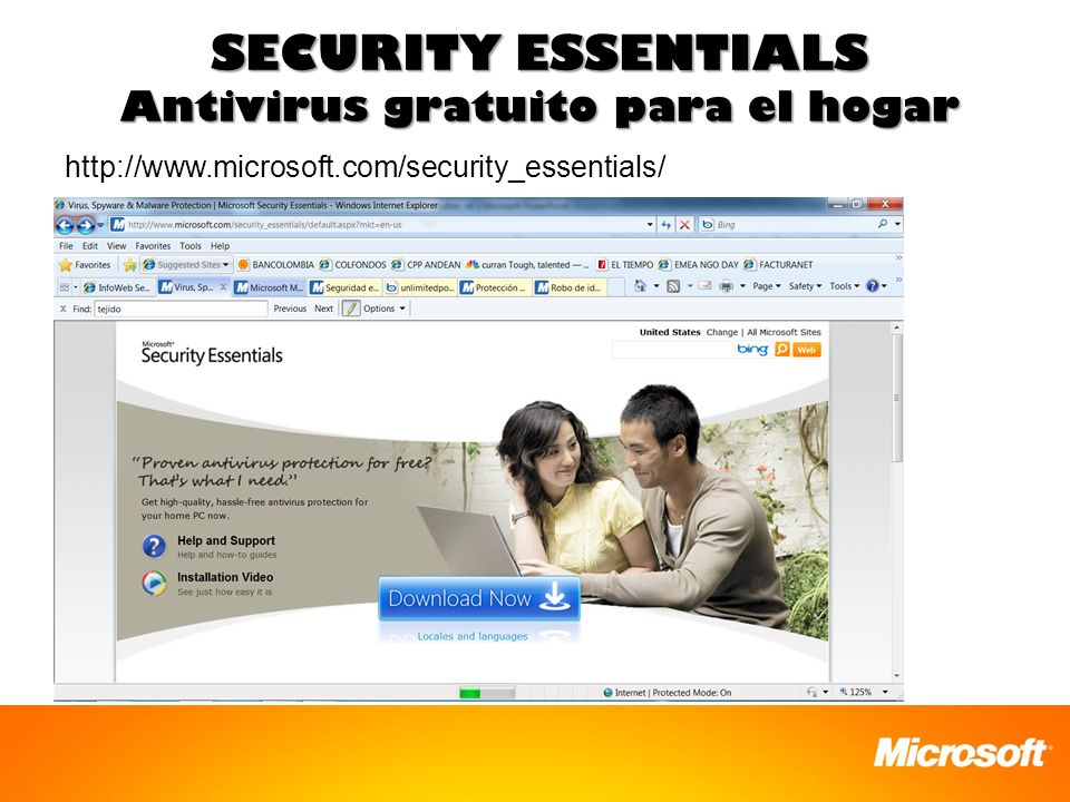 SECURITY ESSENTIALS Antivirus gratuito para el hogar