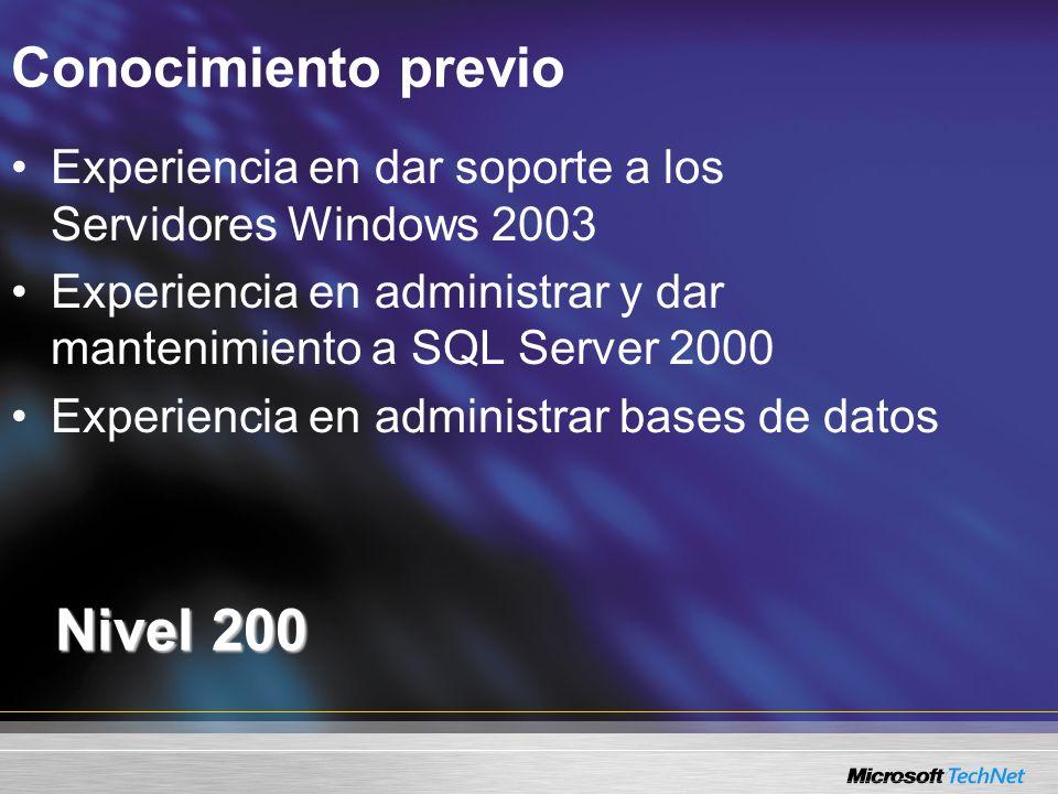 Nivel 200 Conocimiento previo