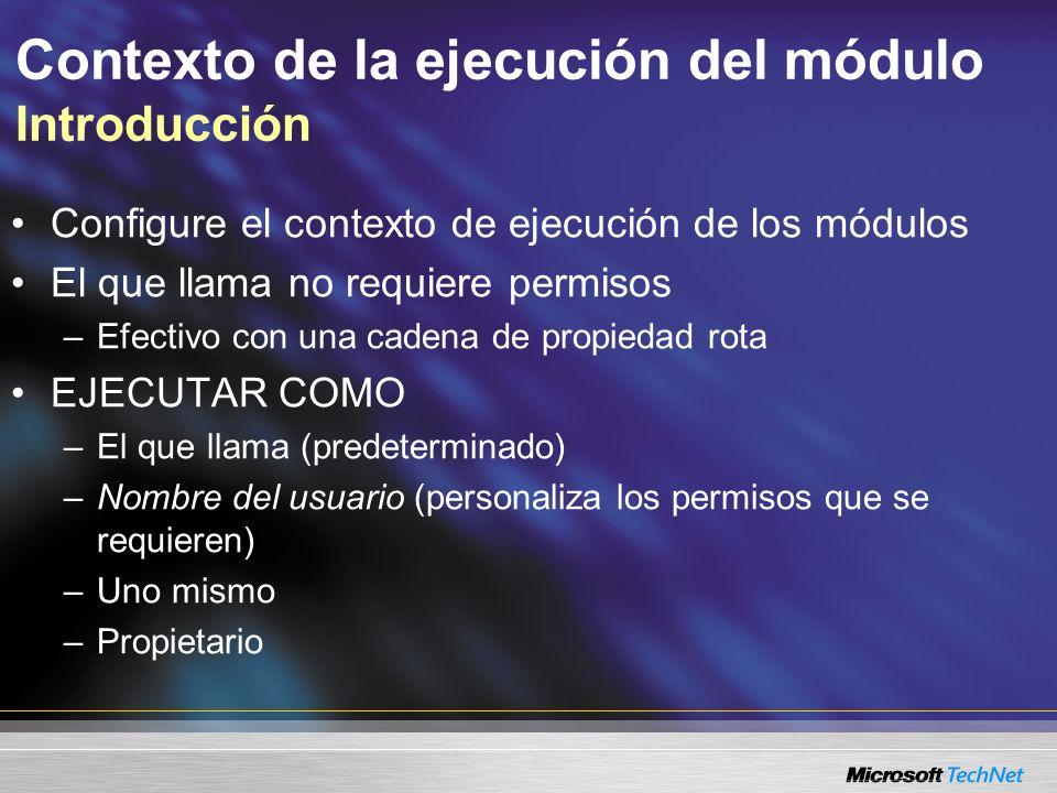 Contexto de la ejecución del módulo Introducción