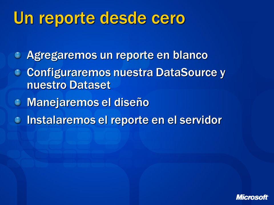 Un reporte desde cero Agregaremos un reporte en blanco