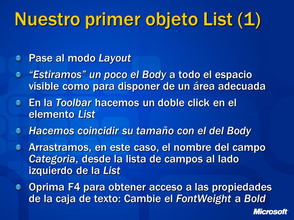 Nuestro primer objeto List (1)