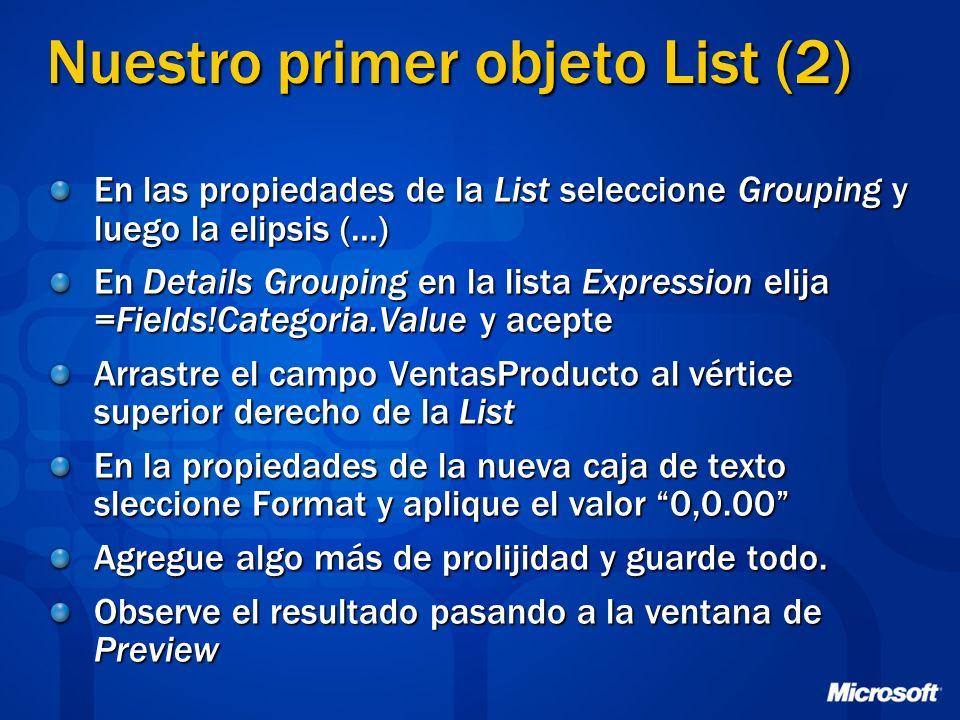 Nuestro primer objeto List (2)
