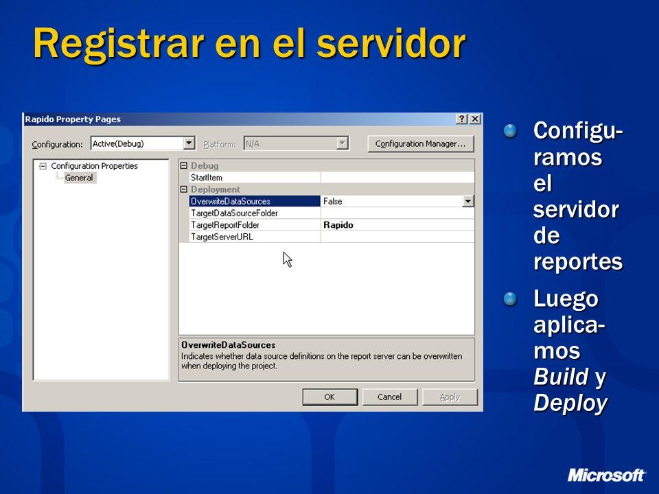 Registrar en el servidor