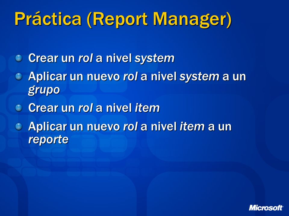 Práctica (Report Manager)