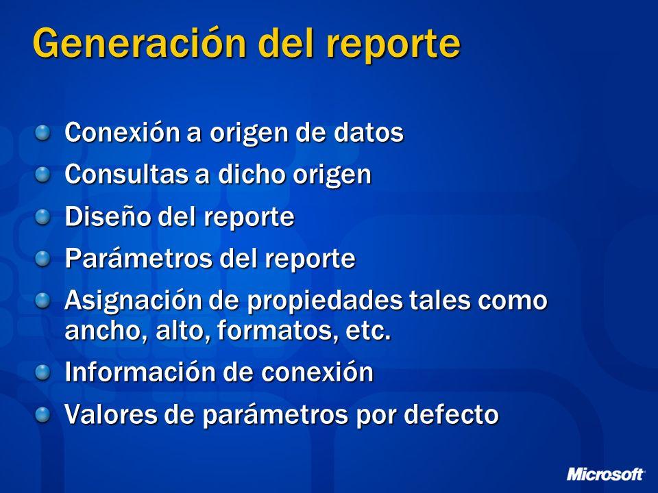 Generación del reporte
