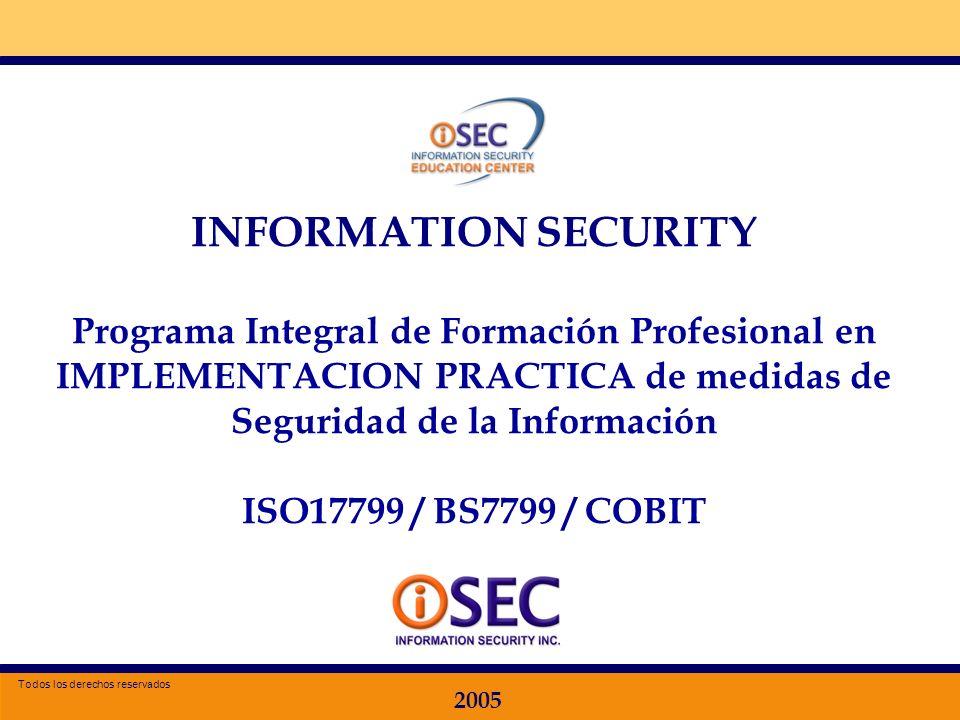 INFORMATION SECURITY Programa Integral de Formación Profesional en